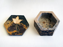 Carved Soapstone Box Stock Images