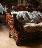 Carved sofa Stock Photo