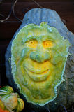 Carved Squash Face Royalty Free Stock Photo