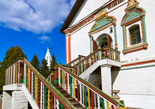 Carved stairs to church in Kolomna Kremlin - Moscow region - Rus Stock Images