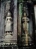 Carved Statues, Angkor Wat Stock Photos