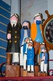Nautical statues of seamen Stock Photo