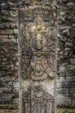 Carved Stella in Mayan Ruins - Copan Archaeological Site, Honduras. Carved Stella in Mayan Ruins in Copan Archaeological Site, Honduras Stock Images