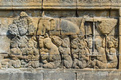Carved stone at Borobudur. Carved stone at the Borobudur temple in Yogyakarta, Indonesia stock image