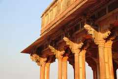 Carved stone colonnade Stock Photos