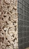 Carved stone column Stock Image