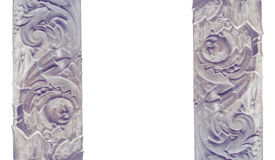 Carved stone decoration  architectural modeling isolated on a white background Stock Photography
