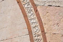 Carved stone decoration on the bridge of Peter in Verona Royalty Free Stock Image