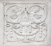 Carved stone decoration Stock Photo