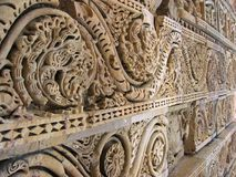 Carved stone in Delhi. Architectural details - carved stone, Delhi, India Stock Photography