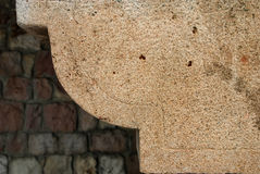 Carved Stone. Detail of a carved stone. texture Royalty Free Stock Image