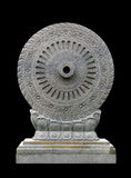 Carved stone Dhammajak Royalty Free Stock Photography