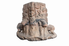 Carved in stone elephant heads antique (thailand) Royalty Free Stock Image