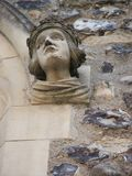 Carved Stone Face  Stock Photography