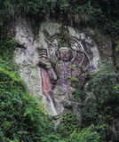 Carved stone in fish shoal grooves,sichuan,china Stock Photos