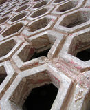 Carved stone grating stock photos