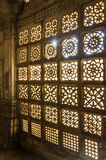 Carved stone grilles pattern at Sarkhej Roza mosque in Ahmedabad Stock Photography