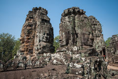 Carved stone heads Stock Image
