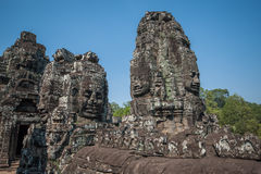 Carved stone heads Stock Photography