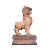 Carved stone lion from the Asian Art. stock images