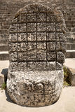 Carved stone Mayan throne Stock Photography