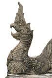 Carved stone naga Stock Images