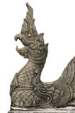 Carved stone naga Royalty Free Stock Images