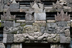 Carved stone at old Buddhist temple, Indonesia Royalty Free Stock Photo