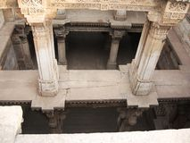 Carved stone pillars. Carved ancient stone found in ahmedabad - adalaj Stock Images