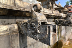 Carved stone public fountain. Pashupatinath, Nepal Royalty Free Stock Photos