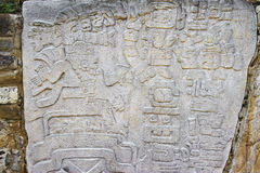 Carved stone of the ruins of Monte Alban in Oaxaca, Mexico Stock Photo