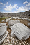 Carved Stone in Ruins at Perga Royalty Free Stock Images