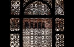 Carved Stone screens - Mughal architecture Stock Image
