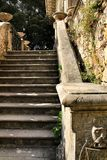 Carved stone stairs of Monserrate palace in Sintra. Beautiful carved stone stairs of Monserrate palace in Sintra, Lisbon, Portugal picturesque scenic inheritance royalty free stock images