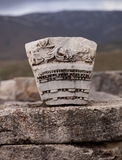 Carved Stone in Turkey Royalty Free Stock Photography