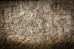 Carved stone wall Stock Photography