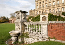 Carved Stone Wall in an English Stately Home. And Garden Royalty Free Stock Photography