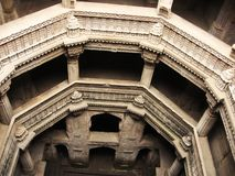 Carved stone well. Carved ancient stone found in ahmedabad - adalaj Royalty Free Stock Images