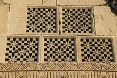 Carved Stone Window Panes Royalty Free Stock Images