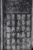 Carved stones with Chinese characters calligraphy Stock Images