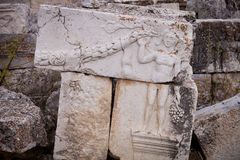 Carved Stones with Figure at Antioch Royalty Free Stock Photography