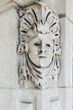 Carved stonework on building Royalty Free Stock Image