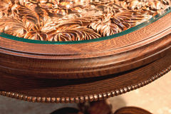 Carved table close up Royalty Free Stock Image
