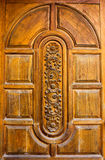 Carved teak doors. Stock Photography
