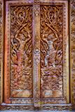 Carved temple door Royalty Free Stock Image