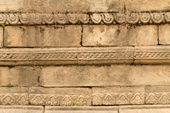 Carved temple wall Stock Photos