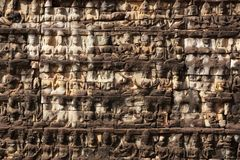 Carved temple wall Royalty Free Stock Images