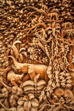 Carved Thai animals Royalty Free Stock Photo
