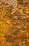 Carved Thai animals Royalty Free Stock Photos