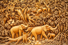 Carved Thai animals Stock Images